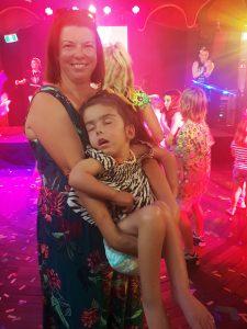 Ivy and mum dancing